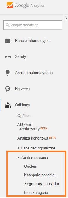 technologia, przeglądarka i system w google analytics