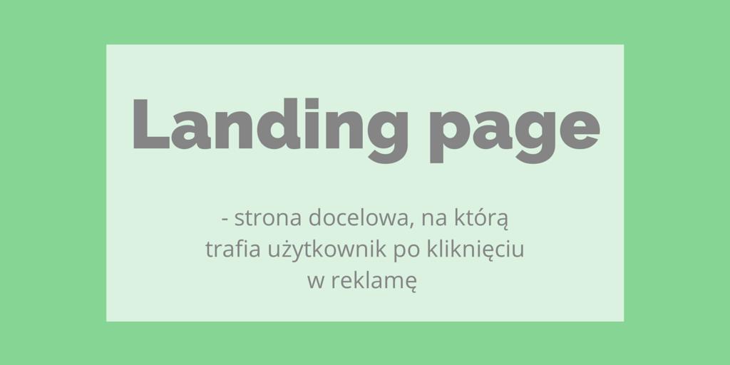 landing page definicja