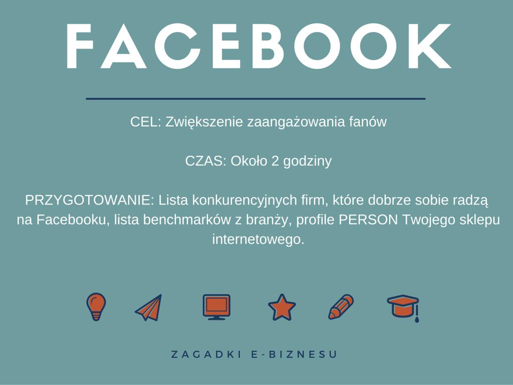 facebook - przygotowanie do e-biznesowej rozgrzewki